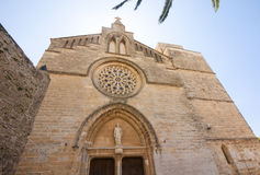 Old Town, Sant Jaume church in Majorca. Alcudia, Mallorca, Balearic island, Spain 28.06.2017. Old Town Sant Jaume church in Majorca. Alcudia Mallorca Balearic Stock Photography