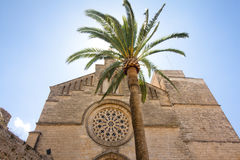 Old Town, Sant Jaume church in Majorca. Alcudia, Mallorca, Balearic island, Spain 28.06.2017. Old Town Sant Jaume church in Majorca. Alcudia Mallorca Balearic Stock Image