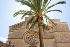 Old Town, Sant Jaume church in Majorca. Alcudia, Mallorca, Balearic island, Spain 28.06.2017. Old Town Sant Jaume church in Majorca. Alcudia Mallorca Balearic Royalty Free Stock Photos