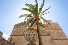 Old Town, Sant Jaume church in Majorca. Alcudia, Mallorca, Balearic island, Spain 28.06.2017. Old Town Sant Jaume church in Majorca. Alcudia Mallorca Balearic Royalty Free Stock Photo