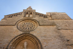 Old Town, Sant Jaume church in Majorca. Alcudia, Mallorca, Balearic island, Spain 28.06.2017. Old Town Sant Jaume church in Majorca. Alcudia Mallorca Balearic Stock Images