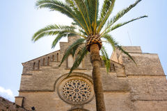 Old Town, Sant Jaume church in Majorca. Alcudia, Mallorca, Balearic island, Spain 28.06.2017. Old Town Sant Jaume church in Majorca. Alcudia Mallorca Balearic Stock Photo