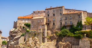 Old town Sartene, South Corsica, France Stock Image
