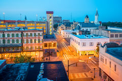Old town Savannah, Georgia, USA stock image