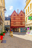 Old town scene in Auxerre Royalty Free Stock Images