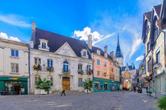 Old town scene in Auxerre Royalty Free Stock Image