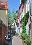 Old Town,Schnoor,Hanseatic City of Bremen,Germany Royalty Free Stock Images