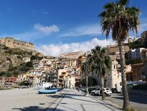 Old fishing village of Scilla. Old town on Scilla on the Tirrenian Coast, Calabria, Italy stock image