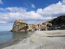 Old fishing village of Scilla. Old town on Scilla on the Tirrenian Coast, Calabria, Italy royalty free stock images