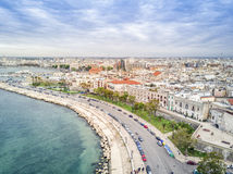 Old town by the sea, Bari, Puglia, Italy royalty free stock images