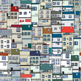 Old town seamless pattern Royalty Free Stock Image