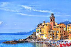 The old town of the seaport Camogli Royalty Free Stock Photography