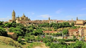 Old Town of Segovia, Spain. UNESCO World Heritage Site Royalty Free Stock Image