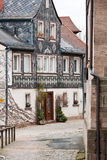 Old Town Series. Nicely renovated old German house with clapboards Royalty Free Stock Photography