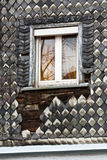 Old Town Series. Window of old German house with clapboards Royalty Free Stock Photography