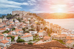 Old town of Sibenik in Croatia Royalty Free Stock Photography