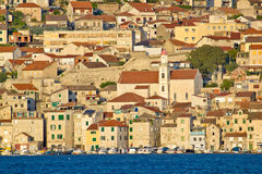 Old town of Sibenik waterfront Stock Images