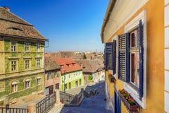 Old town of Sibiu, Romania Stock Photography