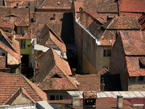 Old town of Sighisoara. A view of roofs in old town of Sighisoara Royalty Free Stock Images