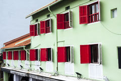 Old town in Singapore Stock Photo