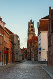 Old town and Sint Salvatorskathedraal, Bruges Stock Photography