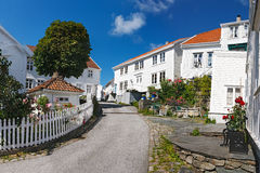 Old town of Skudeneshavn Stock Image