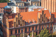 Old town skyline - aerial view from town hall tower. The medieva Royalty Free Stock Images