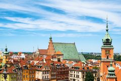 Old Town Skyline in Warsaw. Old Town skyline in city of Warsaw in Poland stock photos