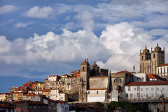 Old Town Skyline of Oporto in Portugal Royalty Free Stock Photo