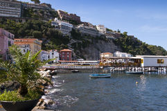 The old town of Sorrento. Marina Grande is the old fishing village of Sorrento royalty free stock image