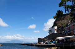 The old town of Sorrento. Marina Grande is the old fishing village of Sorrento royalty free stock photography