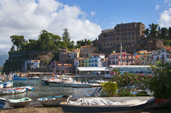 The old town of Sorrento. Marina Grande is the old fishing village of Sorrento Stock Photo