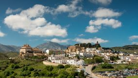 Old town in spain andalusia. Andalusia in Spain city skyline of a old town stock photography