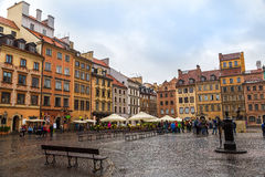 Old town sqare in Warsaw. In a summer day, Poland Stock Images