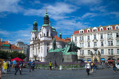 Old Town Square. In Stare Mesto, Prague, Czech Republic Stock Photography