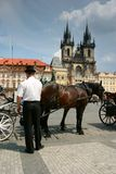 Old Town Square. The Old Town Square in Prague, Czech Republic Royalty Free Stock Photography