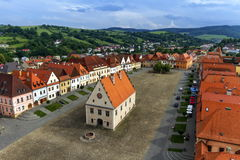 Old town square in Bardejov, Slovakia Royalty Free Stock Photos