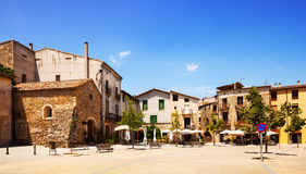 Old town square. Besalu Royalty Free Stock Photos
