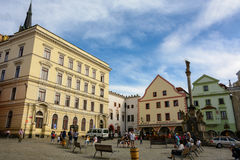 Old Town Square in Cesky Krumlov Royalty Free Stock Images