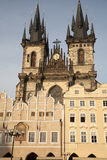 Old Town Square with the Church of Our Lady before Tyn, Prague Stock Photos
