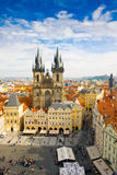 Old town square and Church of Virgin Maria Before Tyn, Prague, Czech republic Stock Photo