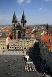 Old town square and Church of Virgin Maria Before Tyn in Prague, Czech republic Stock Photo
