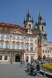 Old town square and Church of Virgin Maria Before Tyn, Prague, Czech republic Stock Photography