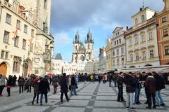 Town Square market place in Prague Stock Images