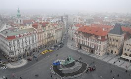 Old Town Square or clock in Prague in Czech Republic Royalty Free Stock Photo