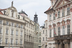 Old Town Square Facades in Prague Royalty Free Stock Images