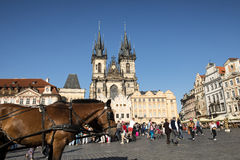 The Old Town Square is a historic square in the Old Town quarter Stock Photography