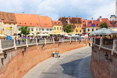 Old Town Square in the historical center of Sibiu Royalty Free Stock Photography