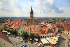 Old Town Square in the historical center of Sibiu Royalty Free Stock Image