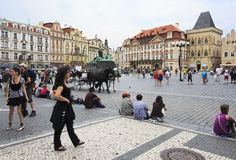 Old Town Square. Royalty Free Stock Image